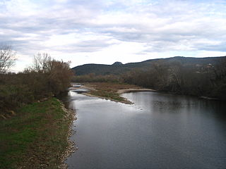 Chassezac River in southern France