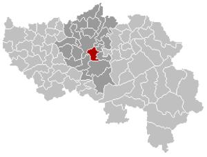 Chaudfontaine - Image: Chaudfontaine Liège Belgium Map