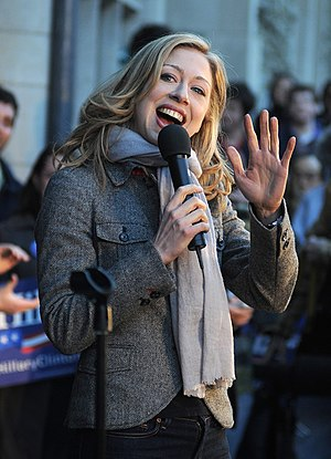 Chelsea Clinton in Philadelphia, USA. Français...