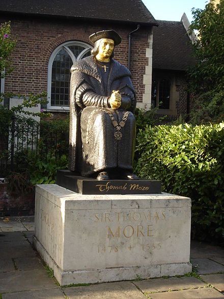 Thomas More statue, Chelsea Old Church Chelsea Old Church 14.JPG