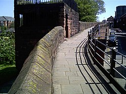 List Of Sections Of Chester City Walls And Associated