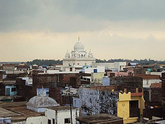 Pilibhit - Skyline of Pilibhit highlighting the Chhathavi Padshahi Gurudwara