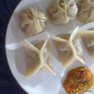 Chicken Momo at a family resturant in Aizawl.jpg