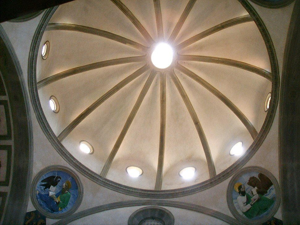 Chiesa di santa croce, cappella dei pazzi, cupola 1