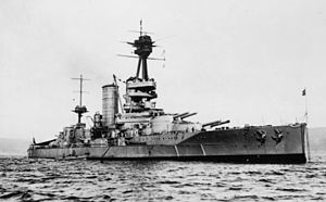 Chile - Chile's Almirante Latorre dreadnought in 1921.