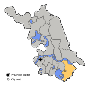 Location in Jiangsu