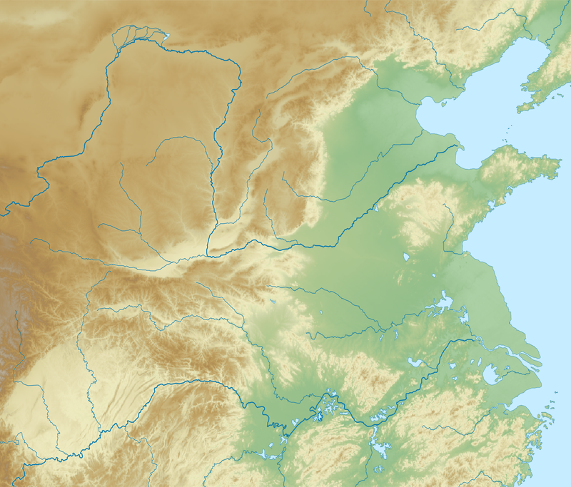 China Northern Plain relief location map.png