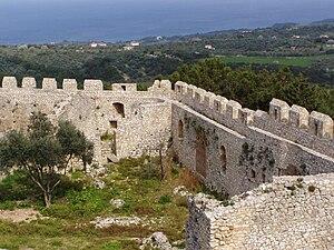 Chlemoutsi - The walls of Chlemoutsi
