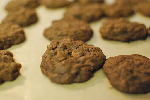 Chocolate Cookies with Milk Chocolate and Peanut Butter Chips (2)