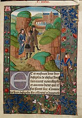 Christ appears to two disciples on the road to Emmaus