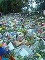 Christchurch mosque shootings memorial flower wall.jpg