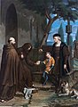 Christopher Columbus at the gates of the monastery of Santa Maria de la Rabida with his son DiegoFXD.jpg