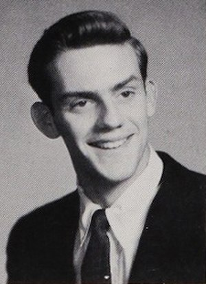 Christopher Lloyd - Christopher Lloyd as a senior in high school, 1958