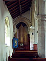 Church of the Holy Cross Great Ponton Lincolnshire England - north aisle and organ.jpg