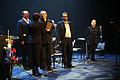 Cikada, Nordiska radets musikprisvinnare 2005 mottar priset fran Nordiska radets president, Rannveig Gudmundsdottir.jpg