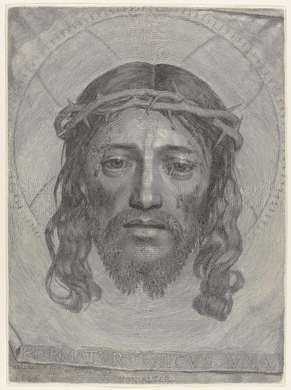 Claude Mellan - Face of Christ - WGA14764