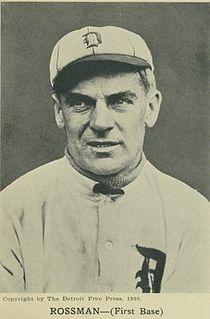 Claude Rossman American baseball player