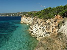 The cliff of Souda island
