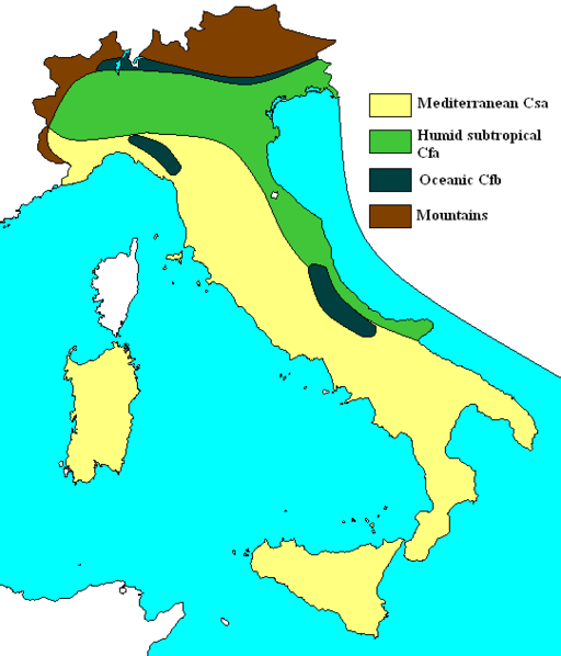 Climates of Italy
