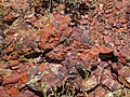 Clinker outcrop (Wasatch Formation, Lower Eocene; coal fire metamorphism at 19 ka, Late Pleistocene; Interstate 90 west-bound hilltop rest area, east of Buffalo, Powder River Basin, Wyoming, USA) 6 (19942166008).jpg