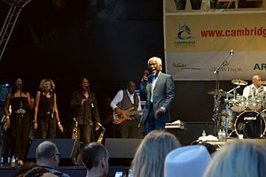 Billy Ocean - Billy Ocean performing in Cambridge, UK, in July 2014