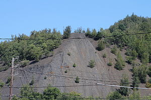 Shamokin, Pennsylvania - A coal pile near Shamokin, Pennsylvania from Shamokin