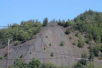 Shamokin, Pennsylvania - A coal pile near Shamokin, Pennsylvania from Shamokin