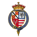 Coat of arms of Sir Robert Radcliffe, 1st Earl of Sussex, KG.png