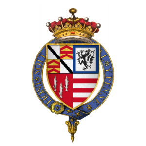 Robert Radcliffe, 1st Earl of Sussex - Arms of Sir Robert Radcliffe, 1st Earl of Sussex, KG