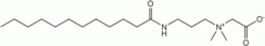 Structural formula of lauramidopropyl betaine
