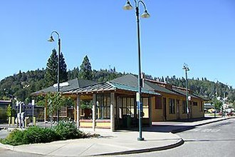 Colfax station - The station building in 2008 after being renovated.