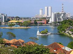 Der Beira-Lake mit dem World Trade Center Colombo
