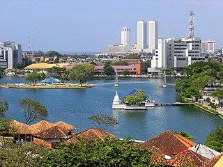 Slave Island Suburb in Western Province, Sri Lanka