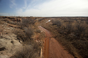 Colorado River (Texas) - Image: Colorado River Borden County Texas 2011