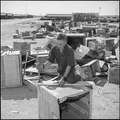 Colorado River Relocation Center, Poston, Arizona. After the final plans have been made, boxes pack . . . - NARA - 539898.tif