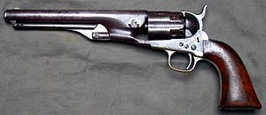 Colt Army Model 1860 - Army 1860 with fluted Cylinder and 7.5-inch barrel serial No. 1158