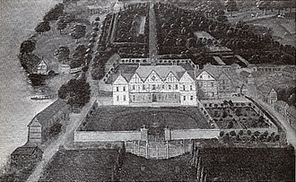 Combermere Abbey - House and gardens c.1730