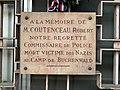 Commissariat de secteur du 8e arrondissement de Lyon - plaque Robert Coutenceau - gros plan.jpg