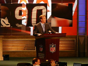 2009 NFL Draft - NFL commissioner Roger Goodell announcing a pick at the 2009 draft.
