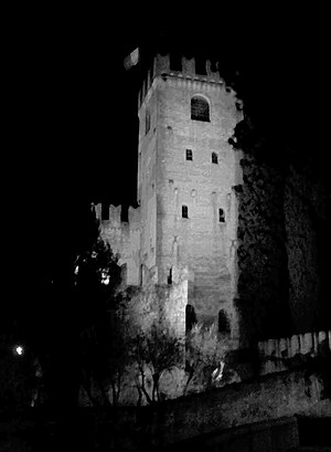 Conegliano - The castle by night