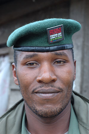 """A CNDP soldier, one of Laurent Nkunda's ..."
