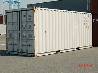 Twenty-foot equivalent unit - Image: Container 【 22G1 】 WTPU 010097(1) No,1 【 Pictures taken in Japan 】