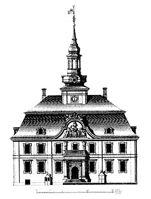 Copenhagen City Hall (1728–95) - The city hall in Lauritz de Thurah's Hafnia Hodierna (Table XXXIII)