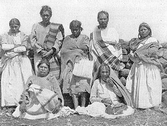 Cora people - A group of Cora people photographed by Carl Sofus Lumholtz in 1896.