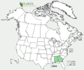 Coreopsis pulchra US-dist-map.png
