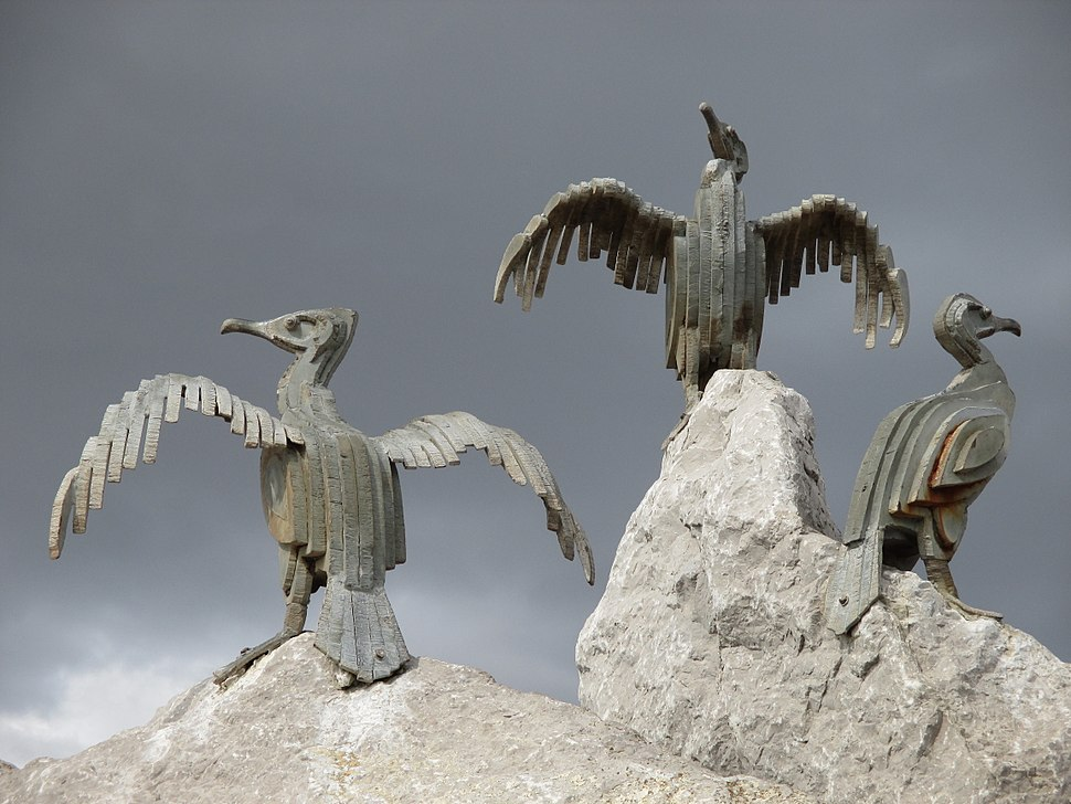 Cormorant sculpture, Morecambe 1