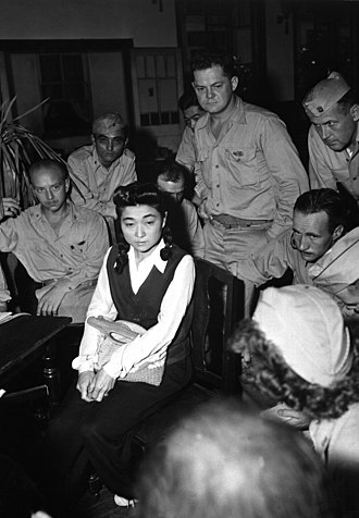 "Propaganda in Japan during the Second Sino-Japanese War and World War II - Correspondents interview ""Tokyo Rose"" Iva Toguri, American-born Japanese, September 1945"