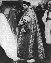 Cosmo Gordon Lang, as Prelate of the Venerable Order of Saint John, at the Grand Priory Church of the Order of St John of Jerusalem, Clerkenwell, London, on 11 January 1918