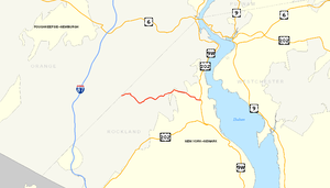 County Route 106 (Rockland County, New York) - Image: County Route 106 (Rockland NY) map