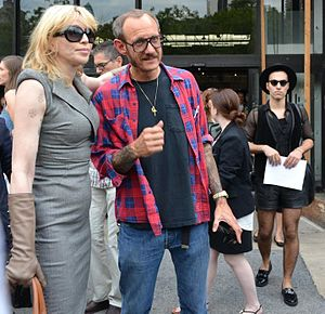 Terry Richardson - Richardson (right) with Courtney Love attending New York Fashion Week in 2011